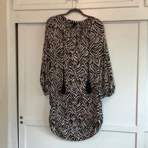 Silky zebra print dress from H&M